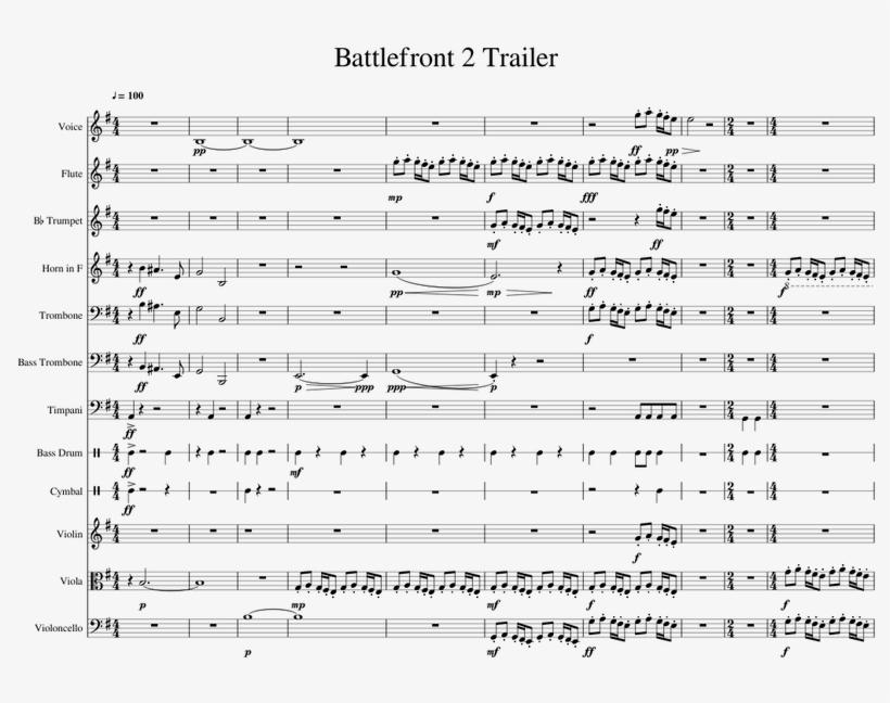Star Wars Battlefront Ii Gameplay Trailer [wip] Sheet - Sheet Music, transparent png #8135802