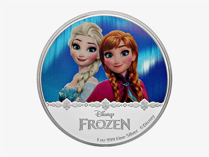 Pure Silver Coloured Coin Frozen - Pure Silver Coin Disney Princess Elsa 2016, transparent png #8136764