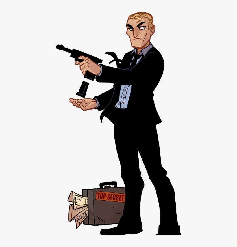 James Bond Clipart Hitman Cartoon Free Transparent Png