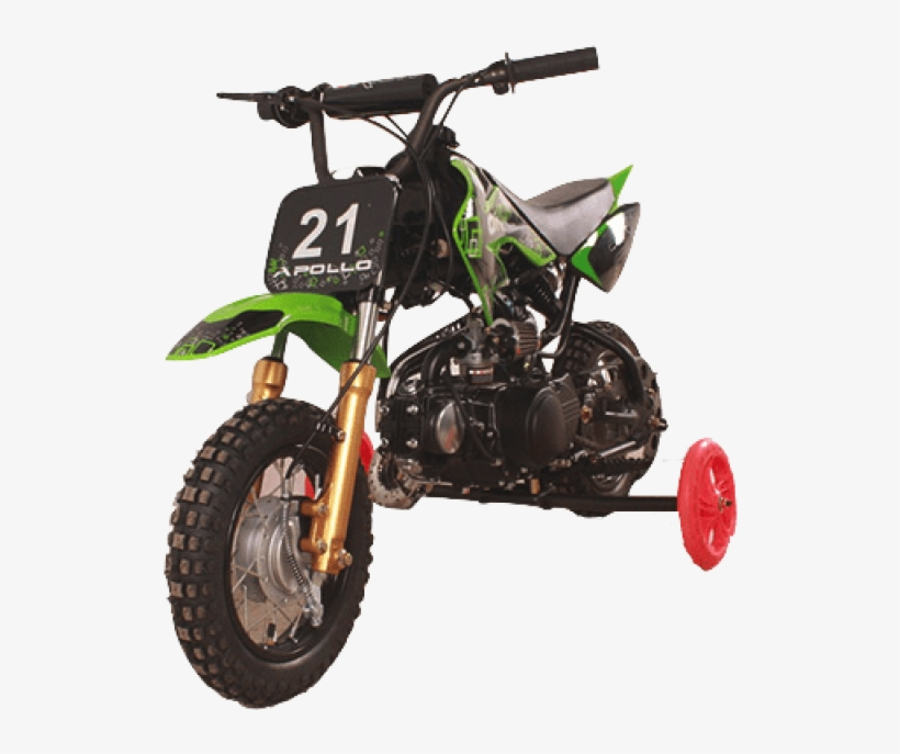 Free Png Download Gas Dirt Bikes With Training Wheels - Dirt Bike 70cc Semi Automatic, transparent png #8143201
