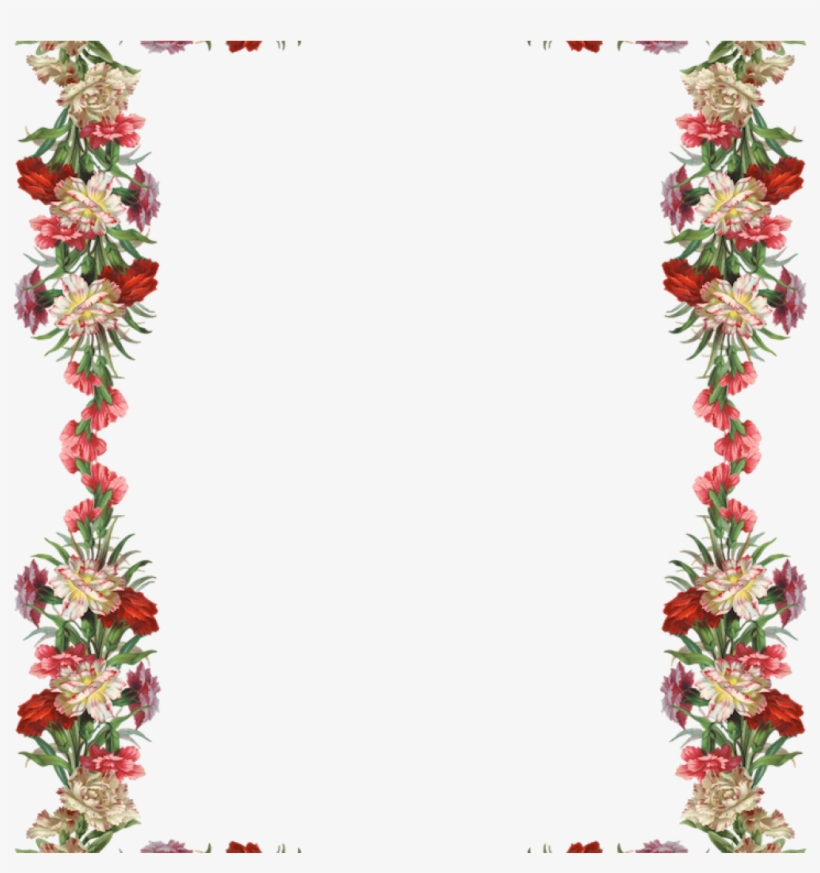 Clipart Png 1272831764 Free Digital Vintage Flower - Flower Vintage Border Design, transparent png #8144356