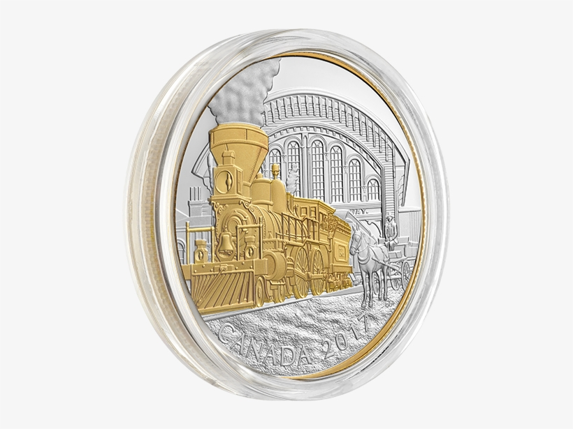 Pure Silver Gold Plated 3 Coin Subscription - Canadian Train Coins, transparent png #8154209