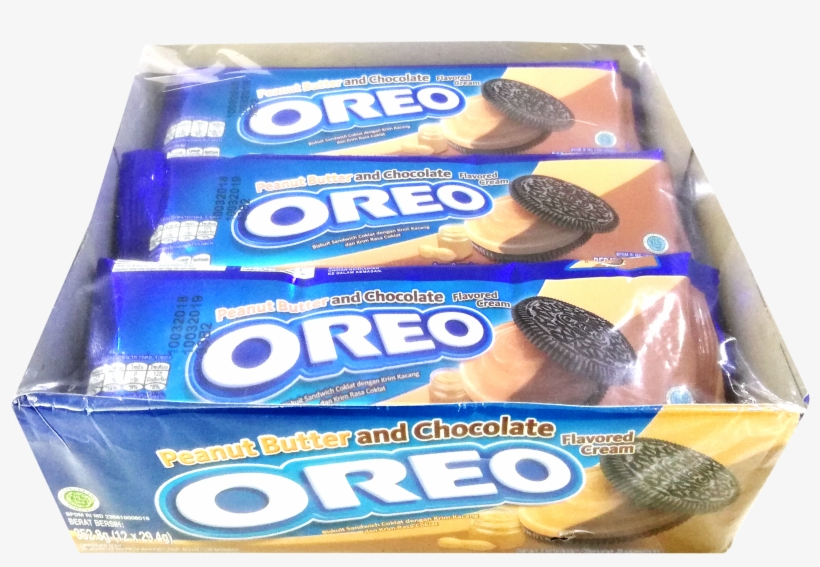 Oreo Peanut Butter & Choco - Sandwich Cookies, transparent png #8162750