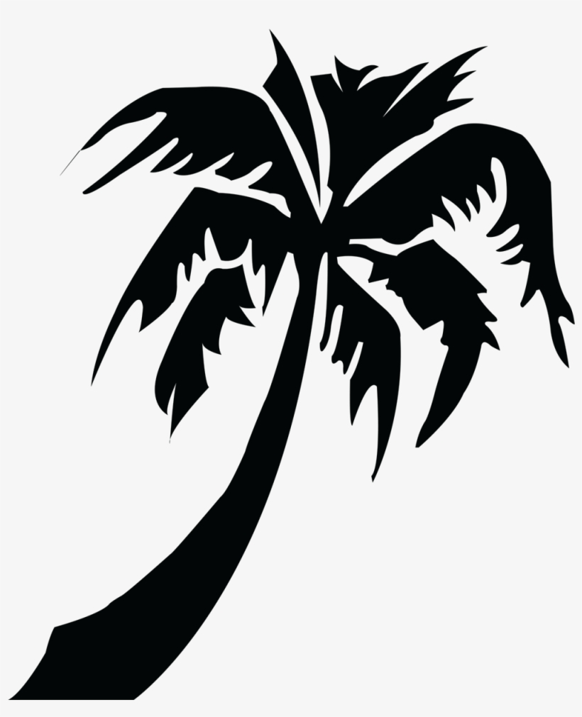 Picture Of Palm Tree - Tropical Palm Tree Silhouette, transparent png #8163558