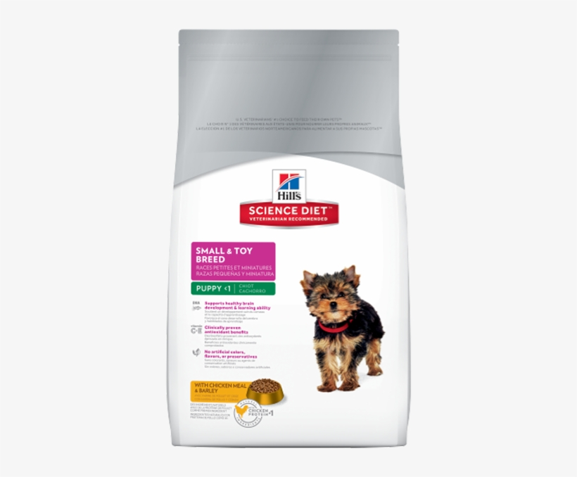 Science Diet Small Breed & Toy Breed Puppy Food Chicken - Hills Puppy Small Bites, transparent png #8163747