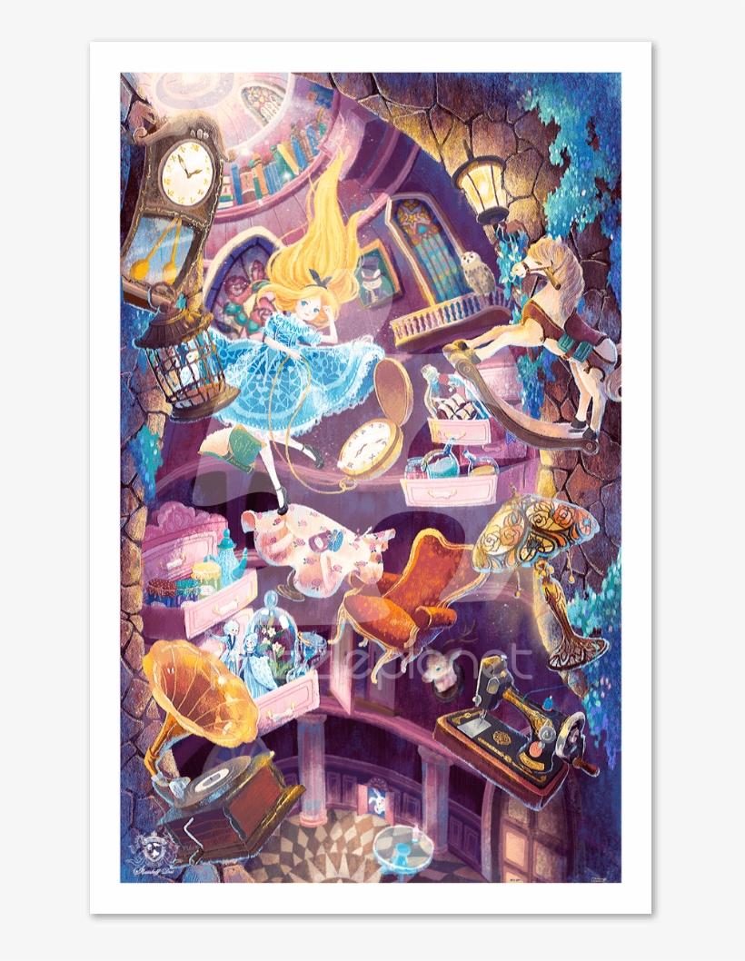 Home - Puzzle Alicia En El Pais De Las Maravillas, transparent png #8164423