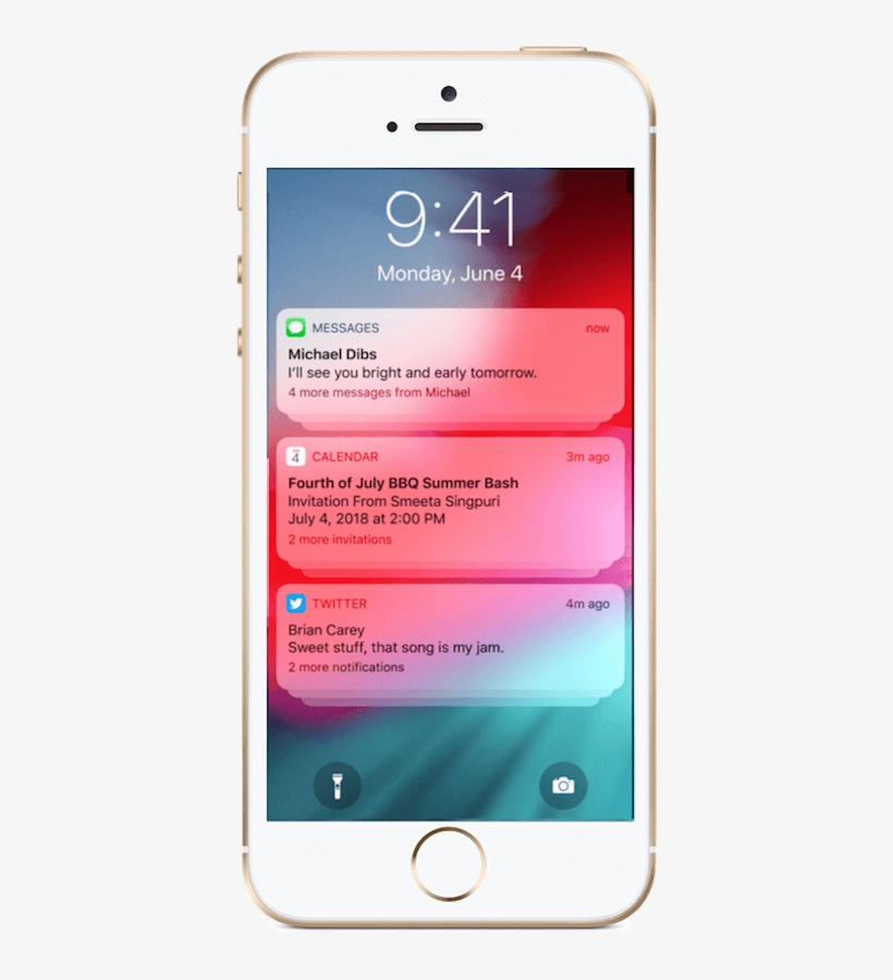 Ios 12 Push Notifications - Free Transparent PNG Download - PNGkey
