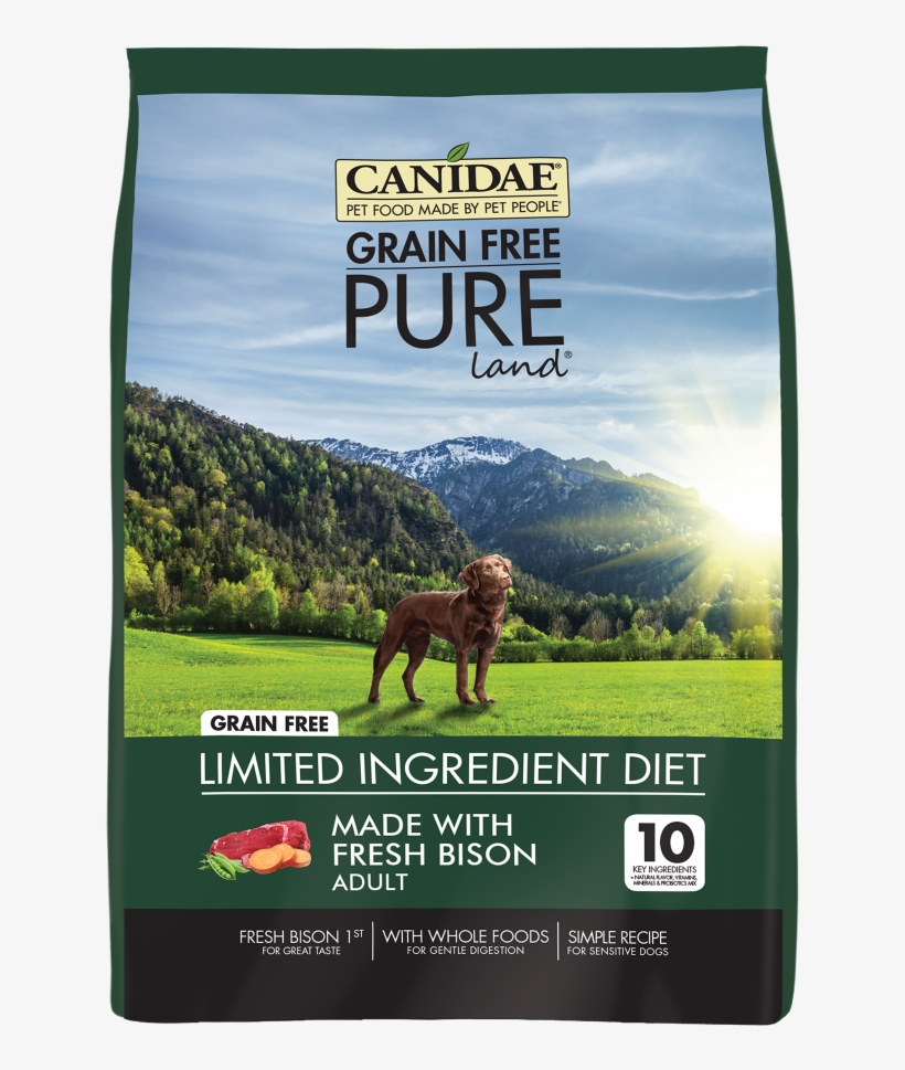Canidae Grain Free Pure Land With Bison Dry Dog Food - Canidae Dog Food, transparent png #8172287