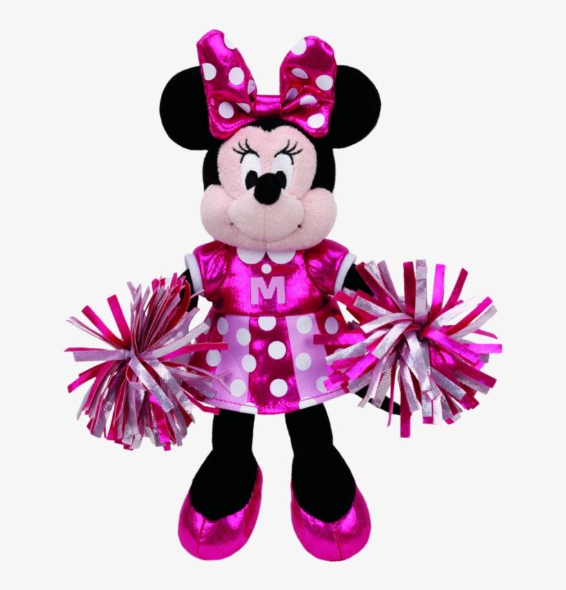 Minnie Mouse Cheerleader Sparkle Beanie Babies - Cheerleader Minnie Mouse, transparent png #8174618