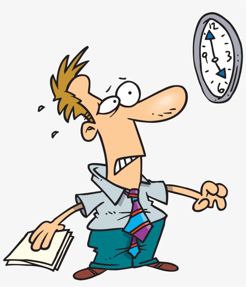 Late - Running Clock Cartoon Png, transparent png #8184321