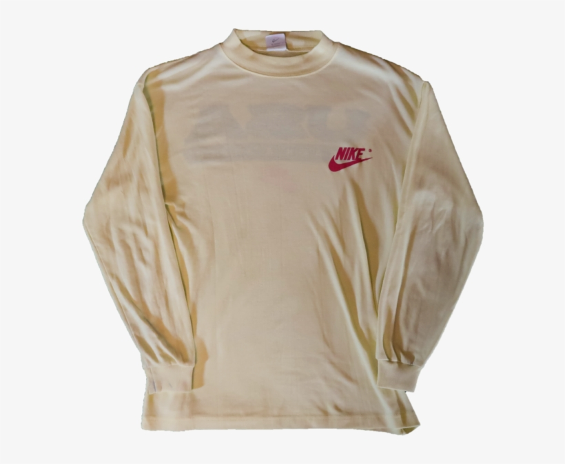 Vintage Nike 90s Grey Tag T Shirt Tee Usa Track Field - Long-sleeved T-shirt, transparent png #8186949