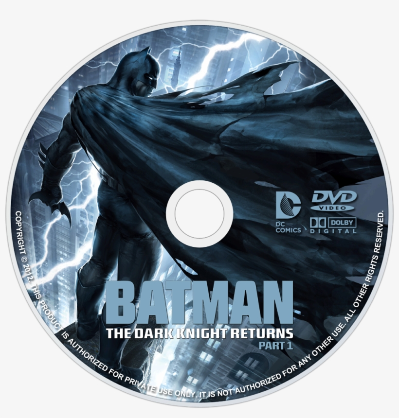 The Dark Knight Returns, Part 1 Dvd Disc Image - Batman The Dark Knight Part 1, transparent png #8188945
