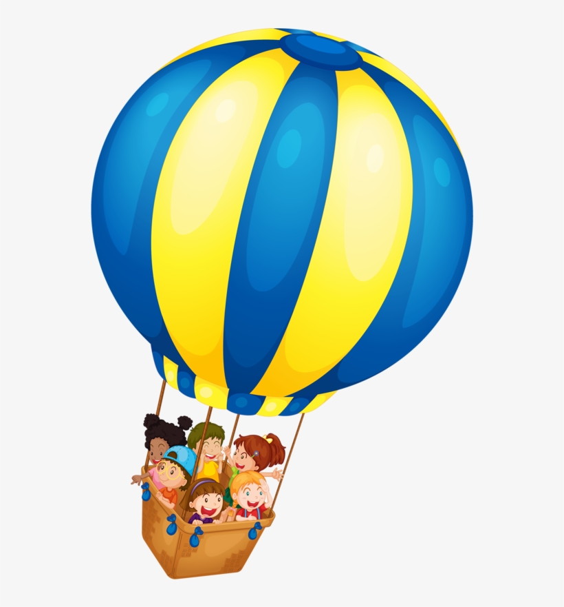 Patriotic Clipart Hot Air Balloon - Kids And Hot Air Balloons, transparent png #8192563