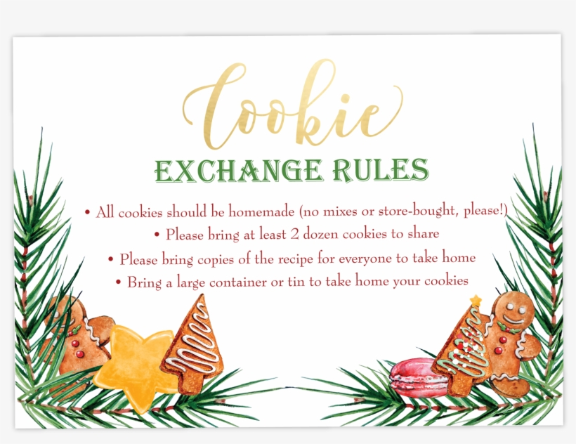 Christmas Cookie Exchange Party Invitations - Merchant Marine License, transparent png #8199449