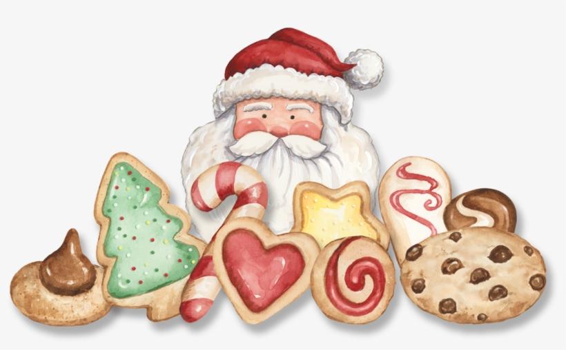 Santa Christmas Cookies - Cookie Swap Png, transparent png #8199745