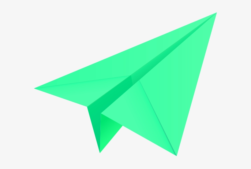 Light Green Paper Plane Paper Aeroplane Vector Icon Colourful Paper Plane Png Free Transparent Png Download Pngkey