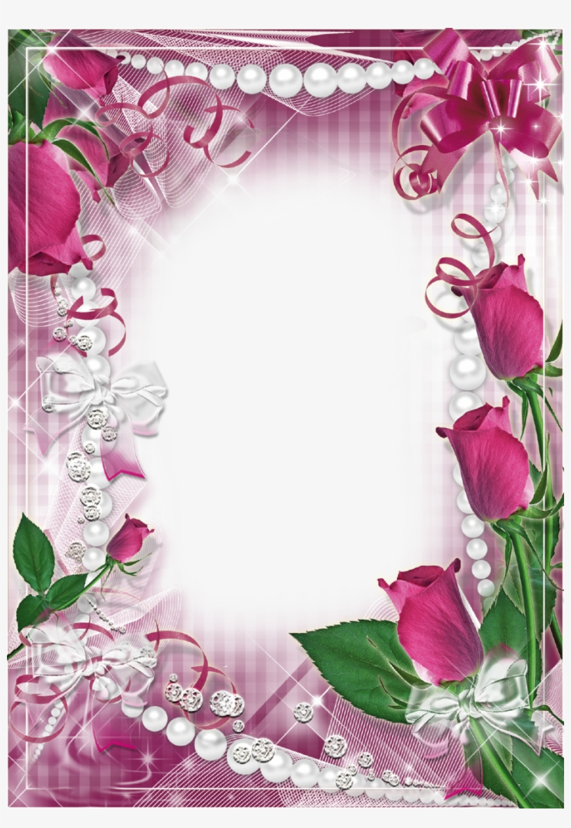 Flowers Gif, Borders And Frames, Rose, String Art, - Picture Frame, transparent png #820706