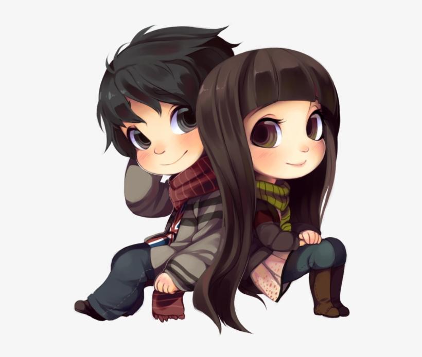 Chibi Clipart Kylie Jenner - Gambar Anime Couple Chibi, transparent png #820952