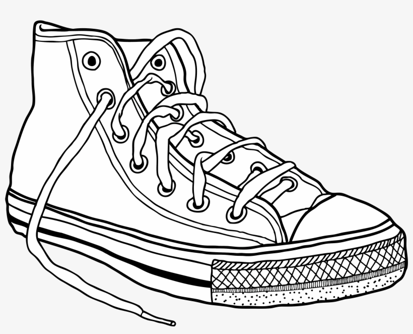 Converse Sneakers Drawing Clip Art , Converse Shoes Drawing