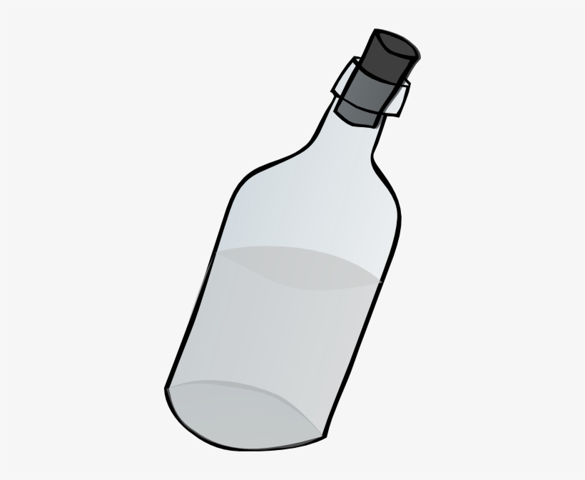 Glass Bottle Black And White Clip Art At Clker - Bottle Clip Art Black And White, transparent png #822115