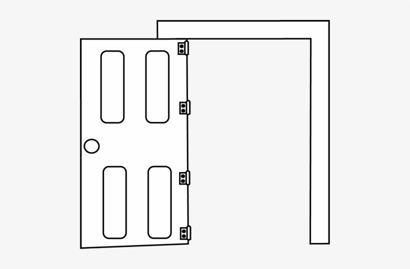 Door Clipart Black And...