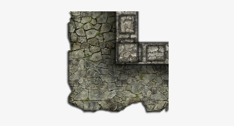 Some More Broken Mods - Dundjinni Broken Castle Wall, transparent png #822354