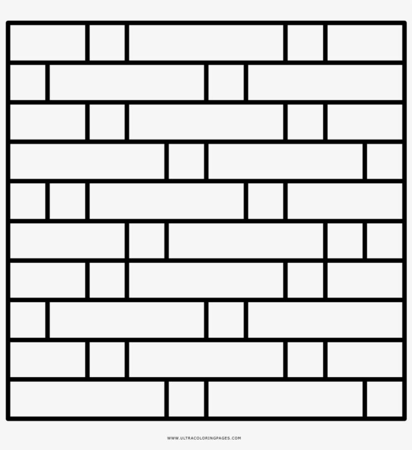 Brick Wall Coloring Page - Pared De Ladrillo Para Colorear, transparent png #822695