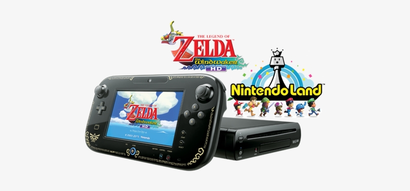 Nintendo's Online Store Has A Pretty Good Deal On The - Nintendo Wii U 32gb Legend Of Zelda System Black, transparent png #825351