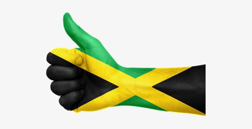 Jamaica Flag Hand National Fingers Patriot - Jamaica Thumbs Up, transparent png #826051