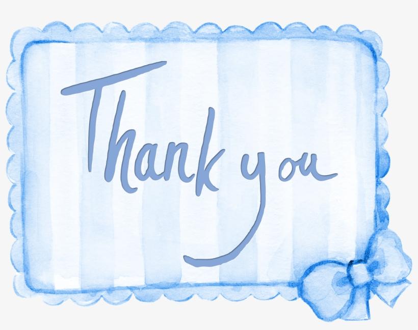 Thank You Sentiment Card Terima Kasih Warna Biru Free Transparent Png Download Pngkey