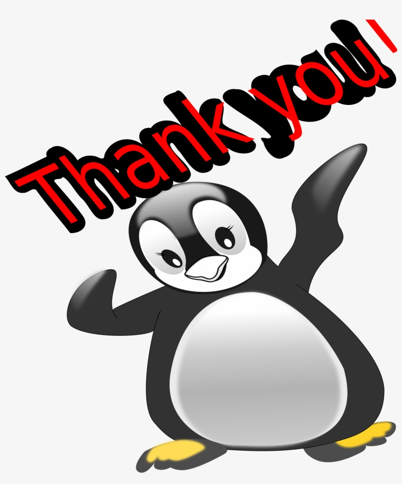 Clip Library Download Thank You Penguin Big Image Png - Png Transparent Clipart Thank You, transparent png #827165