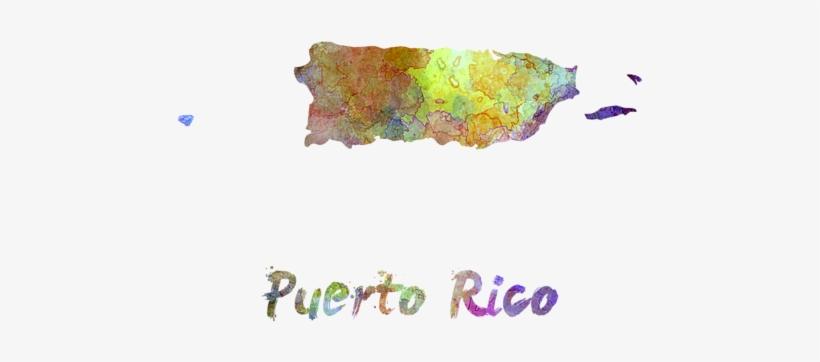 Puerto Rico In Watercolor By Pablo Romero - Puerto Rico, transparent png #827296
