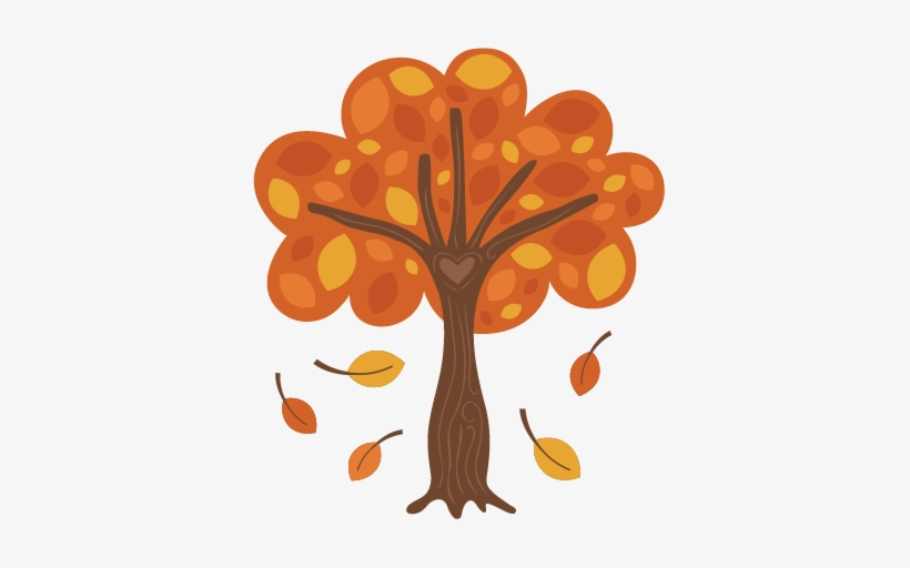 Royalty Free Library Autumn Tree Svg Scrapbook Cut - Cute Fall Tree Clipart, transparent png #827354