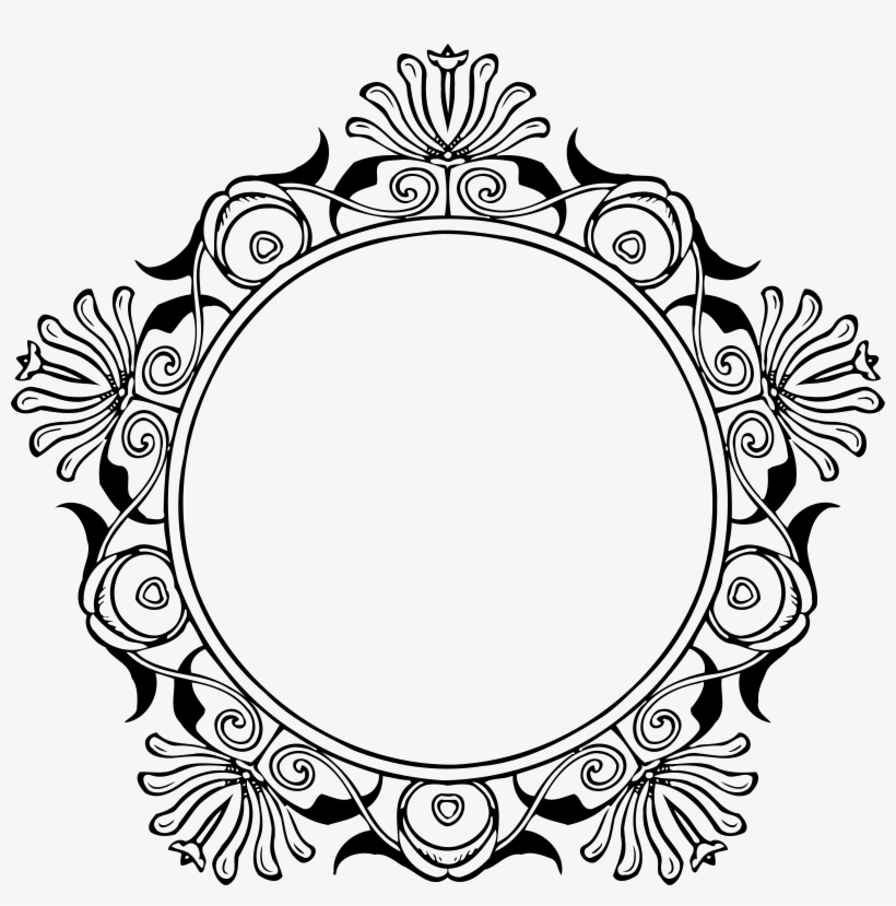 Photo Of Mirror Frame Vector File - Circle Border Design Clipart, transparent png #828122