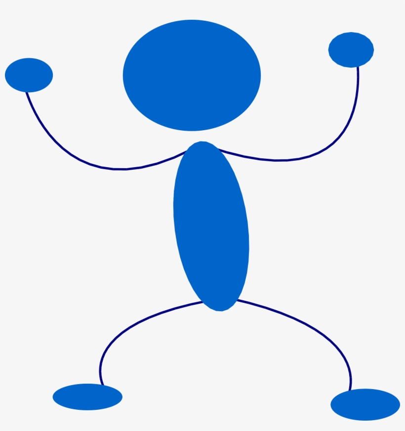 Stickman Stick Figure Angry Yelling - Angry Blue Stick Figure, transparent png #828991