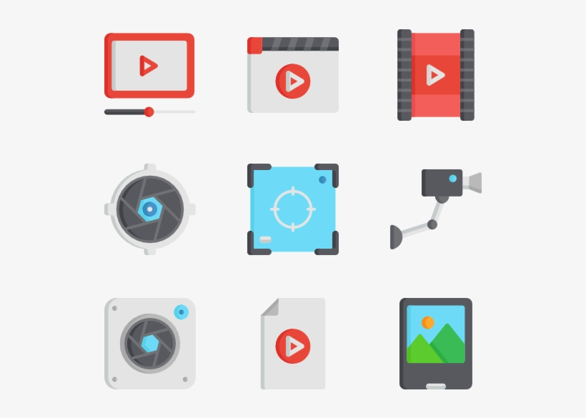 Video & Camera 50 Icons - Video Camera, transparent png #829159