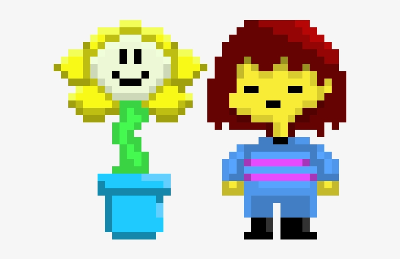 Undertale Frisk And Flowey - Gave The Pope Undertale Game Theory, transparent png #8201751