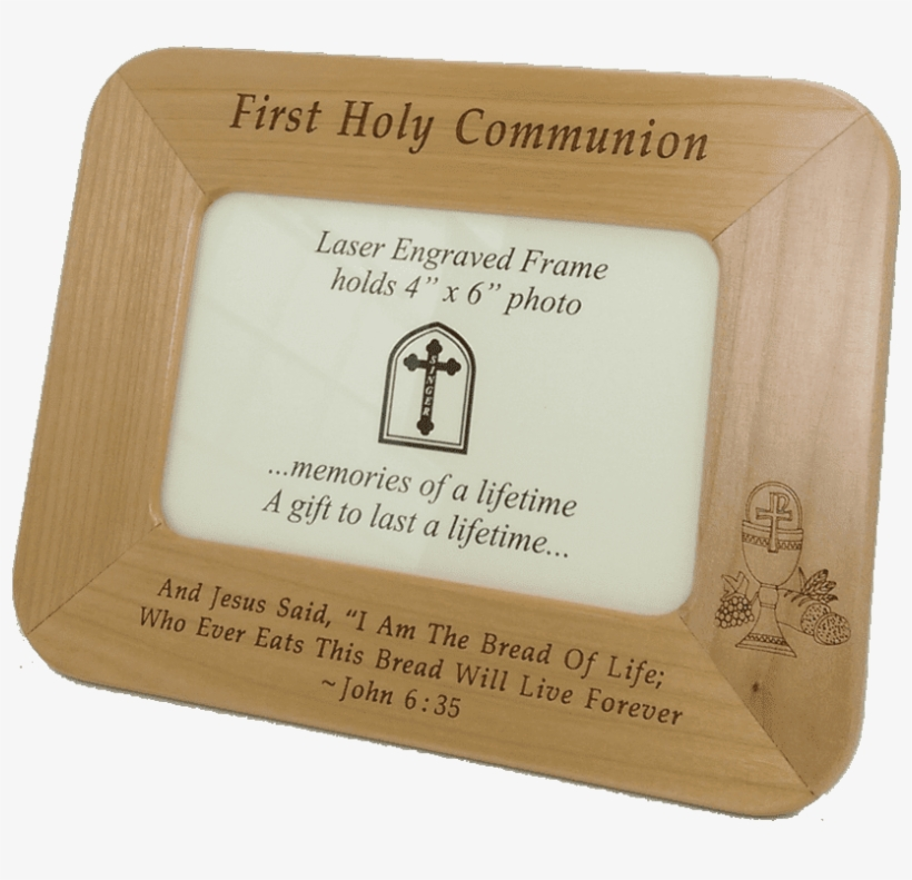 First Communion Maple Wood Photo Frame Gift Image - Bar Soap, transparent png #8201830