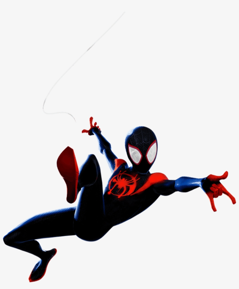 Into The Spider Verse Miles Morales 1 Png By Captain - Spider Man Into The Spider Verse Stickers, transparent png #8205198