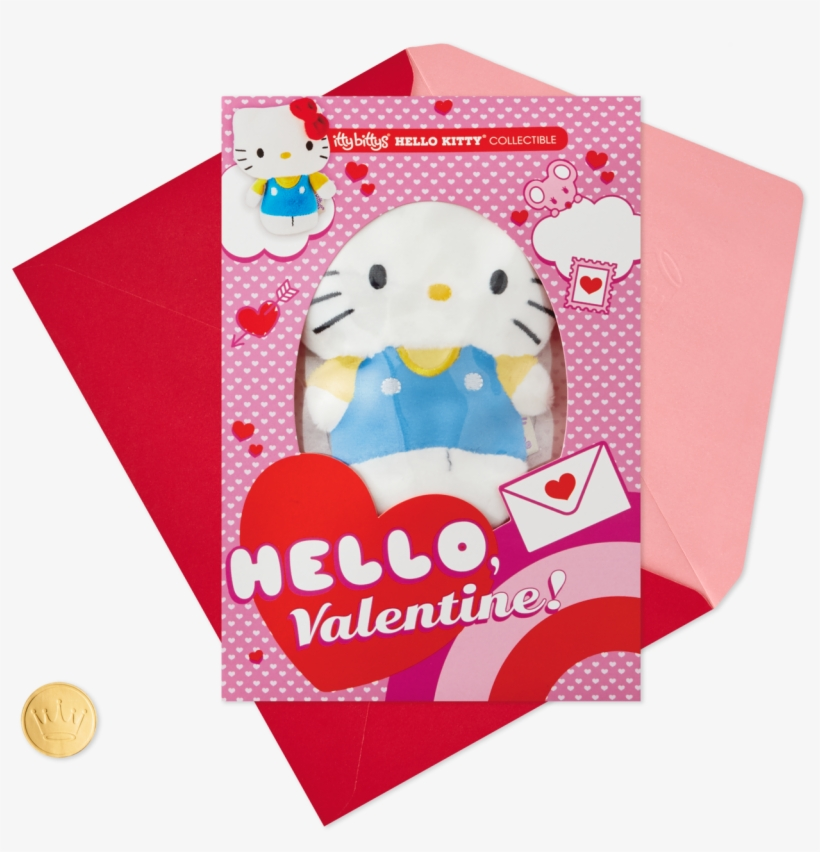 Itty Bittys® Hello Kitty® Valentine's Day Card With - Valentine's Day, transparent png #8208880