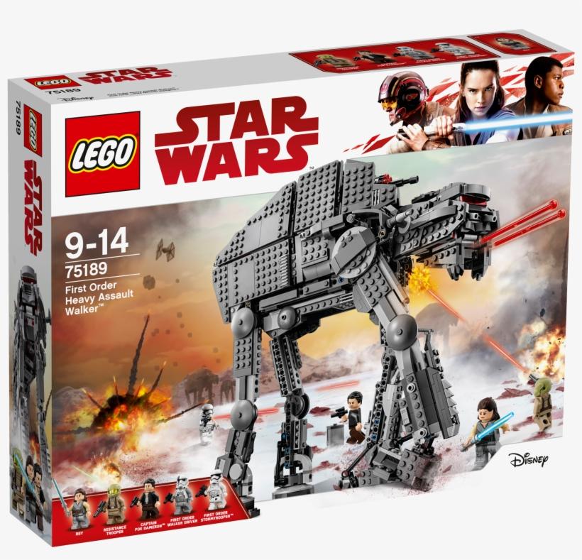 Lego Star Wars 75189 First Order Heavy Assault Walker - Lego Star Wars 75189, transparent png #8210403