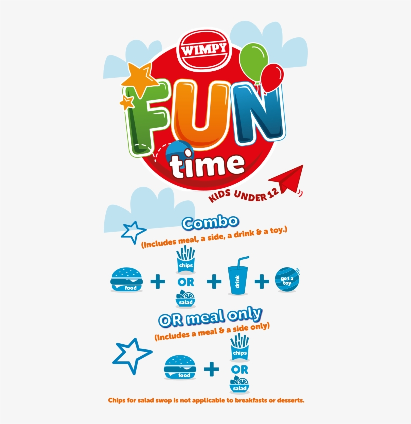 Kids Meals - Wimpy Kiddies Menu, transparent png #8211416