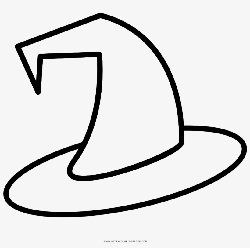 Captivating Witch Hat Coloring Page Ultra Pages Halloween - Witches Hat Coloring Page, transparent png #8221689