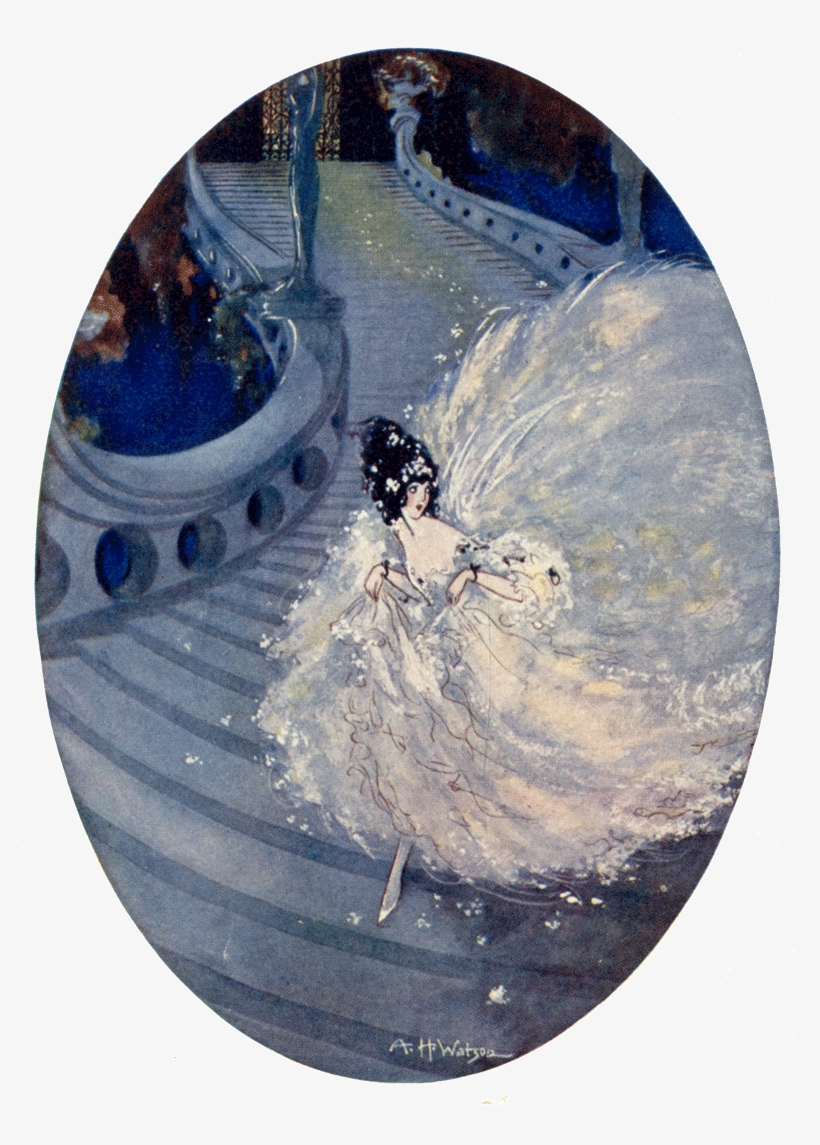 Cinderella By A H Watson - Fairy Tale Illustrations Cinderella, transparent png #8228376