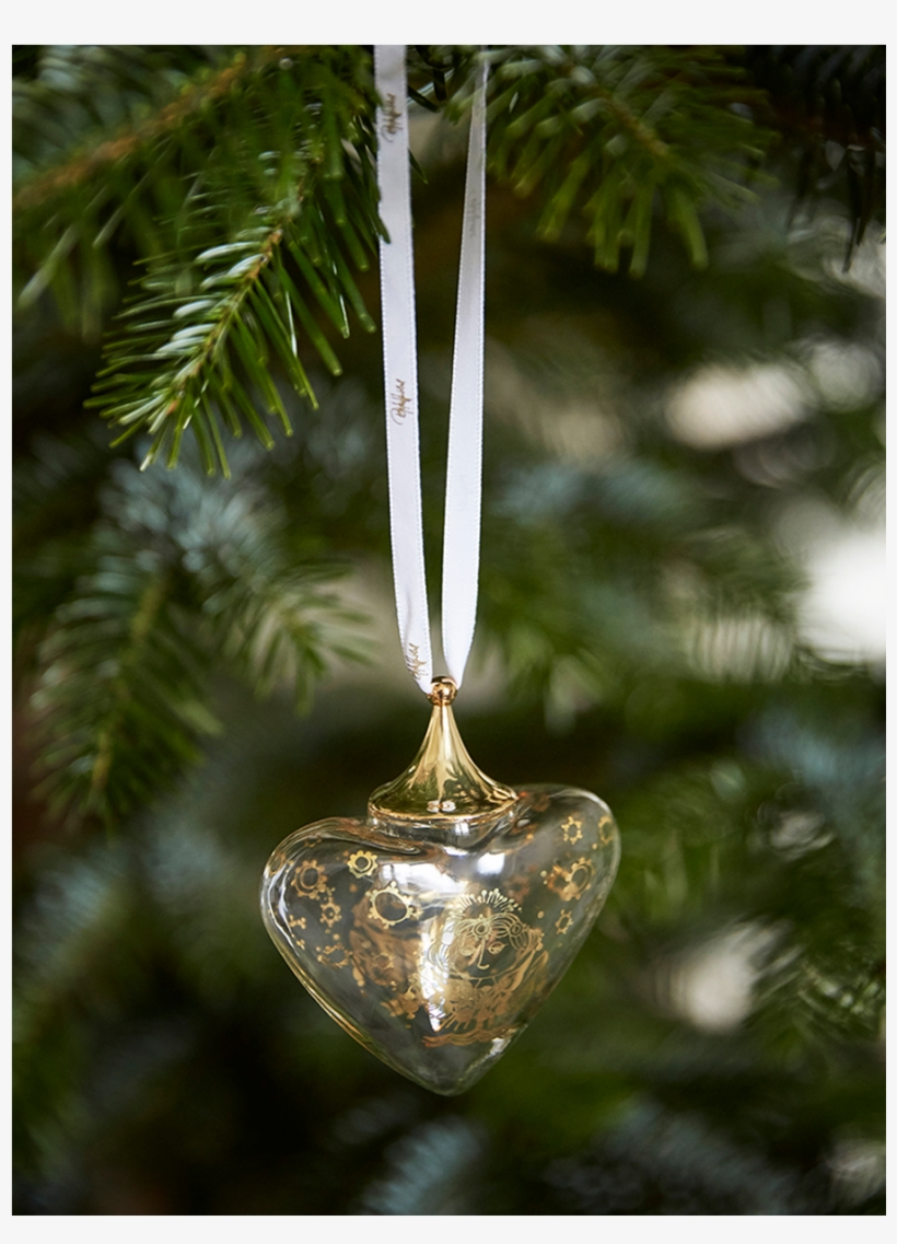 Wiinblad Christmas Heart Gold H9 Bw Christmas - Christmas Ornament, transparent png #8230478