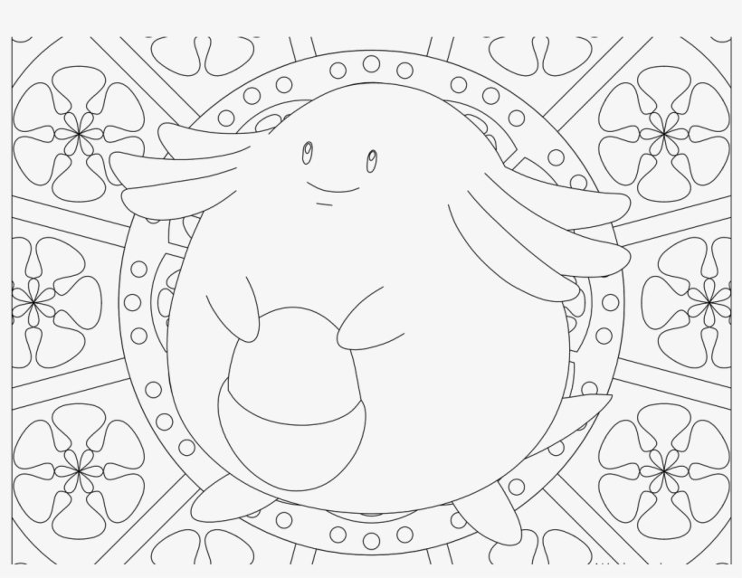 Chansey Pokemon - Adult Pokemon Coloring Pages, transparent png #8232404