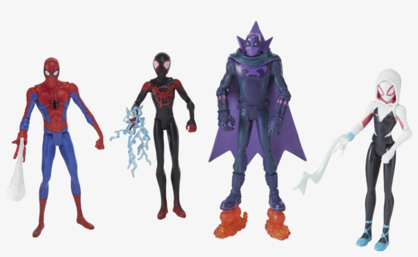 Spider Man Into The Spider Verse - Spider Man Into The Spider Verse Action Figure, transparent png #8234475