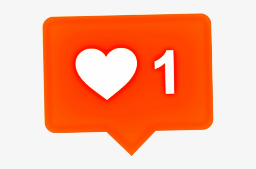 Heart Sticker - Instagram Icon Notification Vector, transparent png #8237717