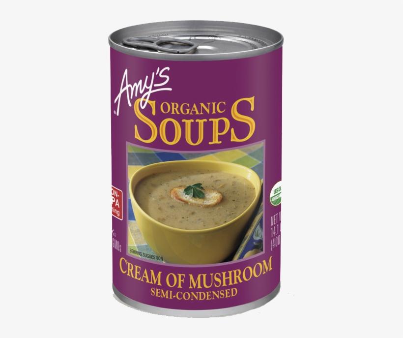 Amy's Organic Cream Of Mushroom Soup, - Amy's Cream Of Mushroom Soup, transparent png #8238072
