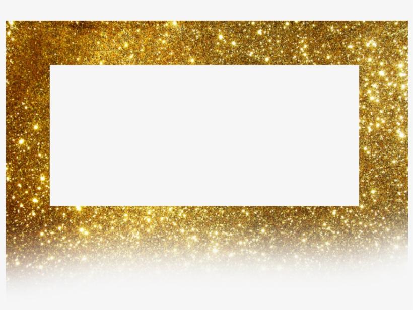 Frame Golden Background Borders Glitter - Gold, transparent png #8239061